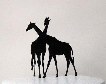 Wedding Cake Topper - Two Giraffes in Love  wedding cake topper