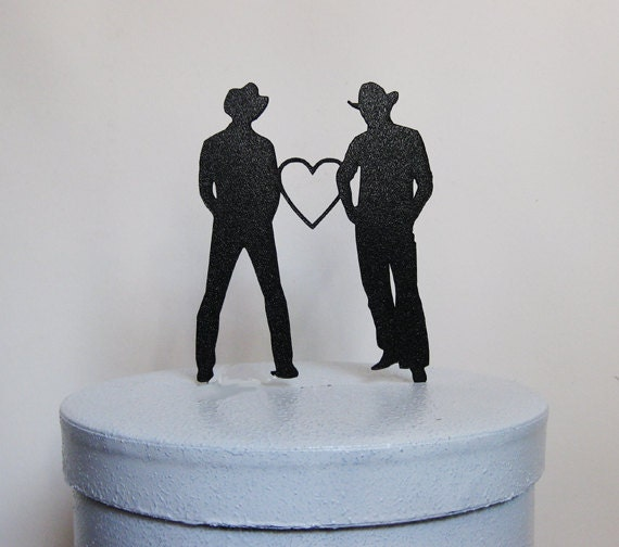 Wedding Cake Ideas For Gay Wedding : Wedding Cake Topper same sex wedding gay wedding two
