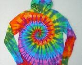 Tie Dye Hoodie Rainbow Spiral Long Sleeve Hooded Tshirt
