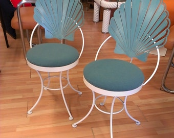 vintage Art Deco patio shell back chairs