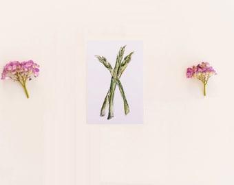 Asparagus Print OR Any 1 Vegetable Print