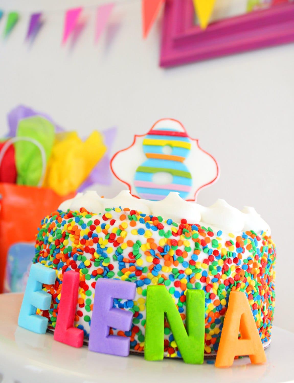 Cake Decorating Letter Blocks : Edible Fondant Cake Topper Block Letter Name for Birthday Cake