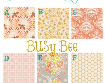 Busy Bee Baby Crib Bedding - Choose from Bumpers, Sheet, Skirt, Blanket, Changing Pad Cover