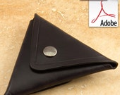 Build Along Leather Pattern 1: Triangular Coin Pouch