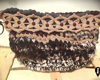 Recycled fabric crocheted case