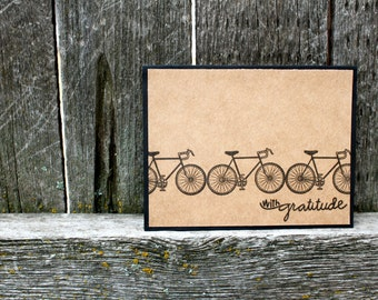 Bicycle Thank You Cards, Handmade Thank You Cards, Bicycle, Cycling, Bicycle Thank You Set, Thank You Set, Bike Thank You Cards, Handmade