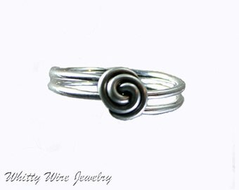 Sterling silver rose ring, Custom, made to order