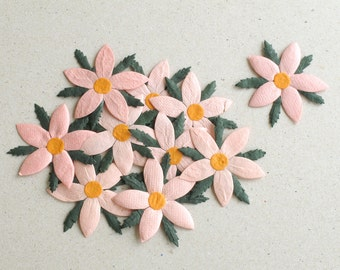 60mm white paper poinsettia 5pcs mulberry paper leaves 50mm pink die cut flowers 10 flat mulberry paper flowers great for scrapbooking mightylinksfo