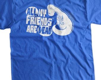 Funny Dinosaur Shirt All My Friends Are Dead Dinosaur T-Shirt Book Dinosaurs Shirt Funny School shirt T Shirt Geek Mens Ladies Womens Kids