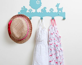 Toy rack etsy for Kids room hooks
