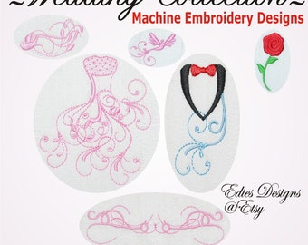 wedding collection wedding machine embroidery designs digital download