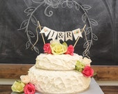 Square Wooden Wedding Cake Stand