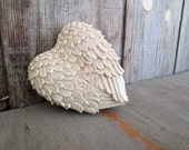 Ceramic Feather Heart Box - 1980's - Valentine's Day - JanesTales