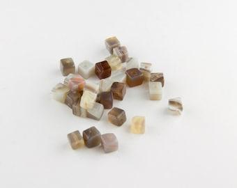 Botswana Agate Cube Beads