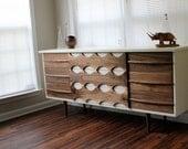 Mid-Century Inspired Ellipse Walnut Dresser by Revitalized Artistry