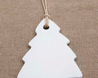 christmas tree clay ornament or gift tag