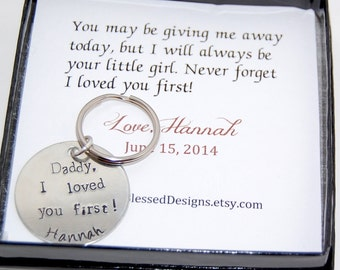 I loved you first DAD Father of the Bride, Gift for DAD on your wedding day by So Blessed Designs