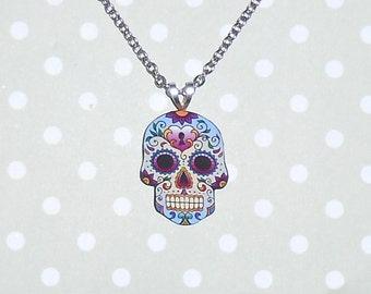 Sugar Skull Necklace and Brooch!