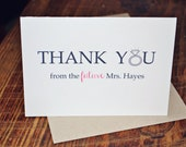 30- Thank you from the future Mrs. wedding thank you card Set of 30