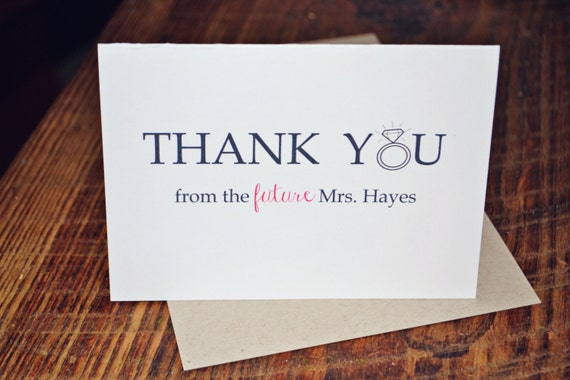 45 Thank you from the future mrs. Set of 45 personalized cards