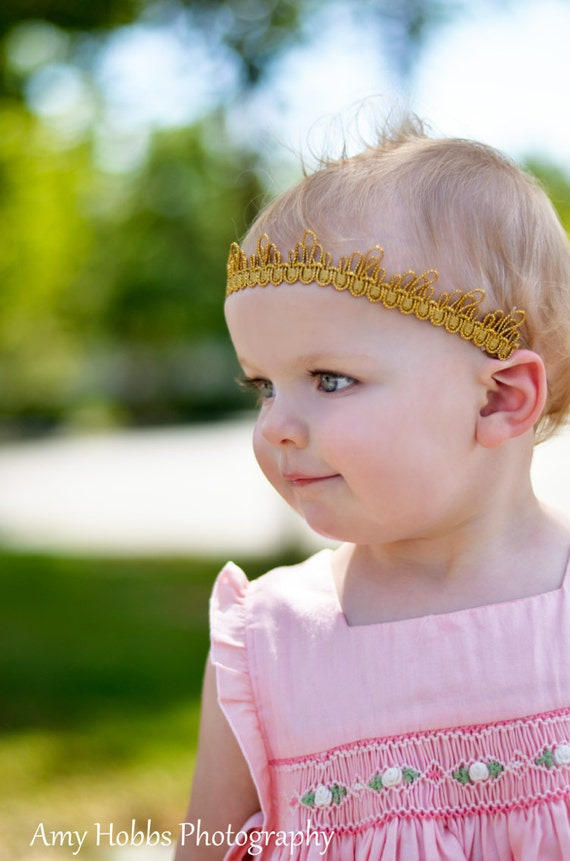 Christmas Crown Headband, Gold Crown Headband, Crown Headband, Gold Headband, Birthday Crown, Baby Headband, Gold Crown, Newborn Crown