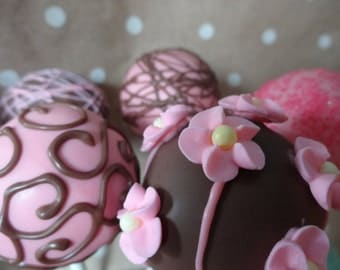 Pink and Brown Cake Pops