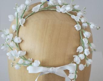 Flower hair garland, Wedding headband, Floral Halo, Floral head wreath, Bridal Flowers Tiara, Bridesmaid tiara, Wedding hair vine,
