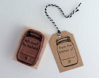 Mason jar, from the kitchen of rubber stamp for making your own tags and labels