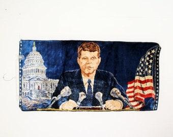 JFK Italian Wall Tapestry Rug John F Kennedy Historical Souvenir, IT206 MRTSRL DeAnnasAttic