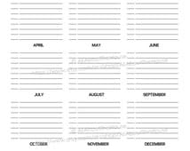 """Important Dates Printable Special Planner 2014 2015 day planner daily planner Agenda Rainbow PDF Editable Household Binder 8.5 x11"""" letter"""