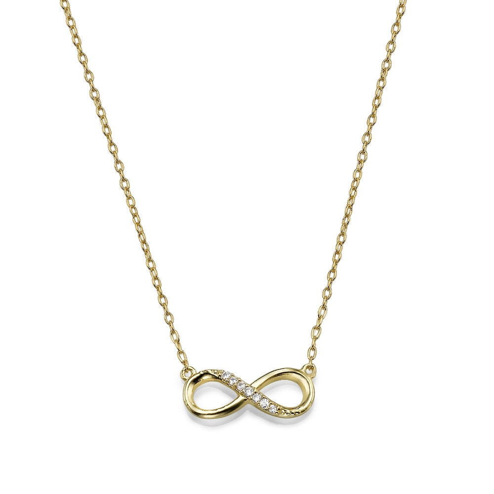 Infinity Pendant Necklace in Gold Plating