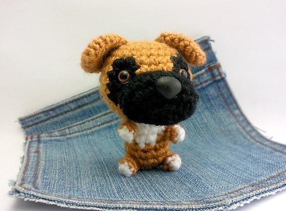 Amigurumi Boxer Dog : Amigurumi Boxer, crochet Boxer, Dog plushie. Stuffed dog ...