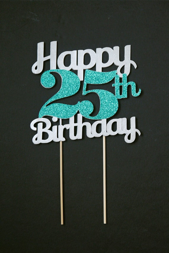 Items Similar To Silver Birthday Age Cake Topper Birthday