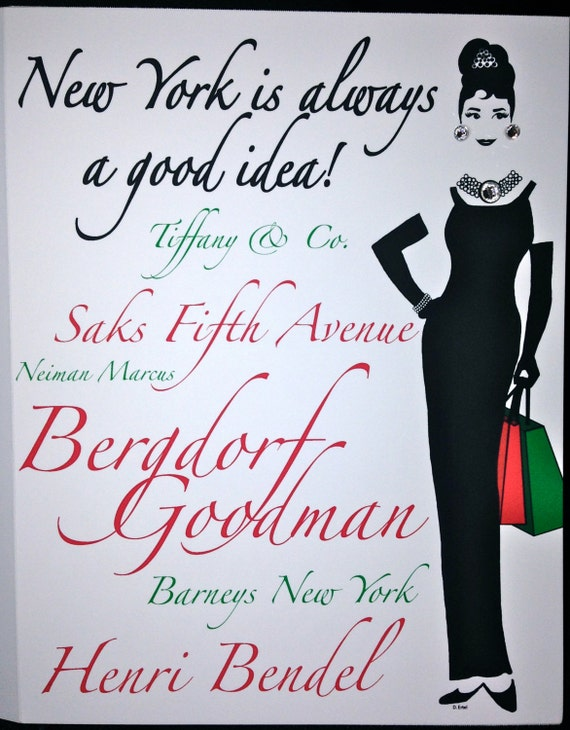 "Audrey Inspired Holiday Cards ""New York is always a good idea!"""