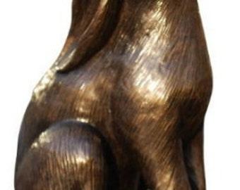 Bronze Moongazing Hare Sculpture