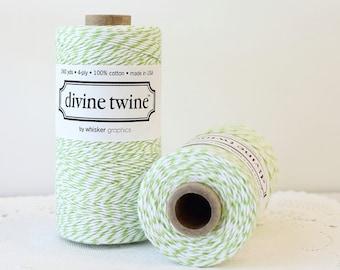 Mint Green Bakers Twine 240 Yards, Mint Divine Twine, Green & White Bakers Twine Green Twine, Green Knitting, Green String, Mint Twine
