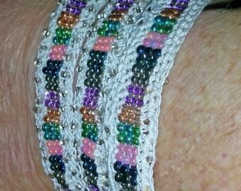 Triple Strand Beaded Bracelet   (I 204)