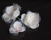 Champagne hair flowers,Bridal hair clips,Blush hair flowers,Petite hair flowers,Champagne hair piece, Blush hair clips,Blush hair flowers