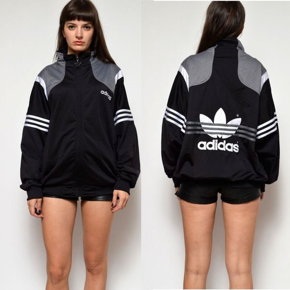 vintage 80 39 s adidas jumper bomber jacket. Black Bedroom Furniture Sets. Home Design Ideas