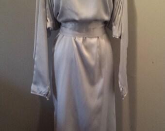 70s Silver Dolman Sleeve Dress
