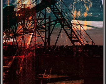 Industrial massif - pigment draw (HDR) - 30 limited series