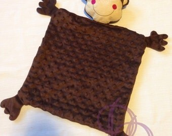 Monkey Animal Blanket ITH Embroidery Design with PDF Tutorial