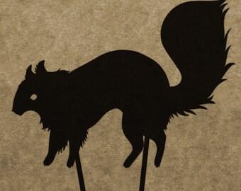 DIY Squirrel Shadow Puppet Pattern (DOWNLOAD)