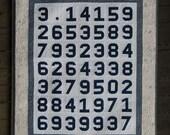 Digital pdf Quilt Pattern - Pi Quilt Pattern and Paper Pieced Numbers Pattern - Math Quilt - Nerd Quilt - Lap Quilt - Modern Quilt