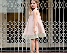 The Racerback Flare Dress PDF pattern and tutorial - sizes 2t - 10, childrens sewing pattern - Instant download