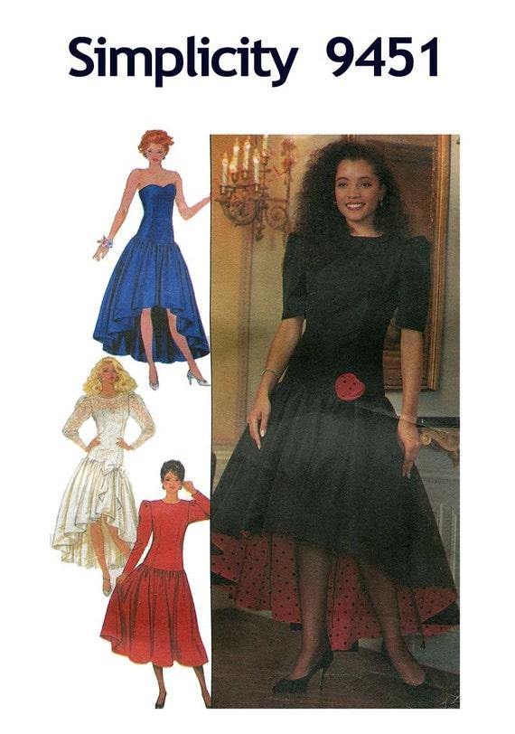 1980s Drop Waist Evening Gown HighLow by DesignRewindFashions