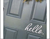 Hello Front Door Decal - Vinyl Lettering Greeting Front Door - Entryway Decor - Hello Vinyl Decal - Front Door Sticker