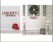 Merry Christmas Door Decal, Merry Christmas Vinyl Decal, Christmas Decal, Front Door Decal, Christmas Door Decal, Holiday Decoration, Decal