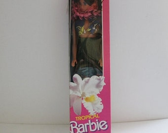 Tropical Barbie Vintage/Miko  with Green Grass Skirt