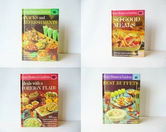 Vintage Cookbooks Set of 4 - Better Homes and Gardens Cookbooks - Mid Century Cooking - Creative Cooking Library - 1960s